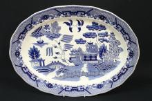 A Blue-and-White Japanese Platter