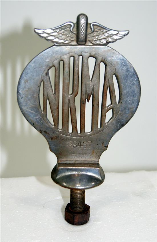 An early nickle NRMA badge, number 39437