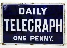 A Daily Telegraph One Penny sign