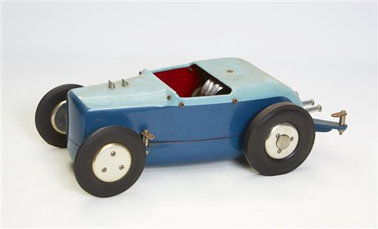 A hot rod tethered car powered by a McCoy 60 engine