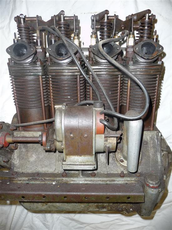 A Henderson 4 Cylinder motorcycle engine, circa 1925