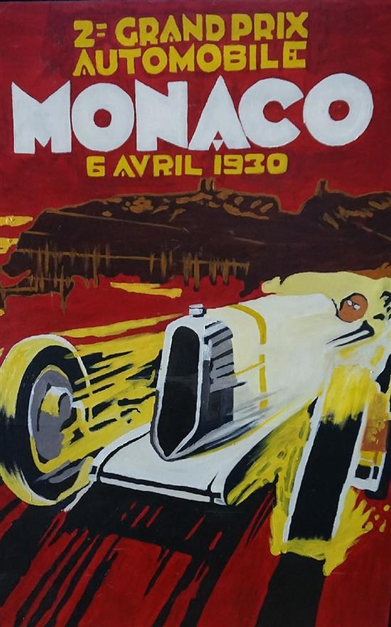 Monaco 1930, oil on canvas, by Todd Stoner