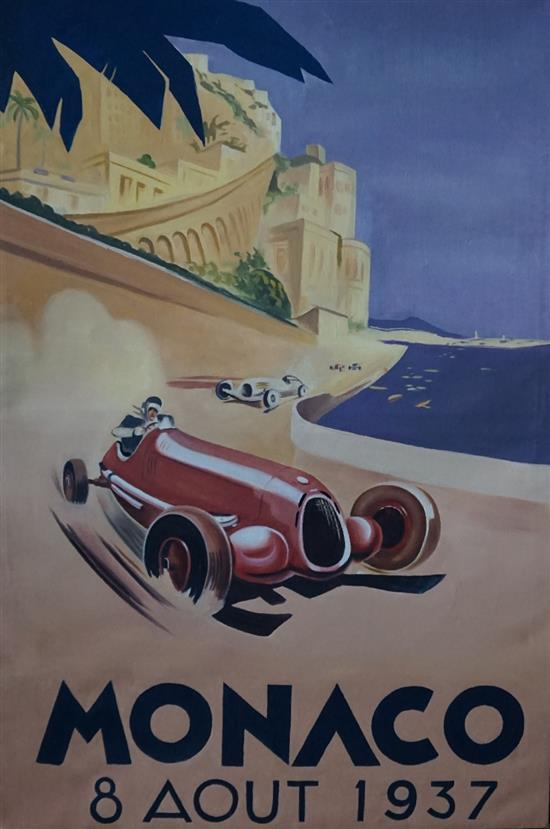 Monaco 1937, oil on canvas, by Todd Stoner