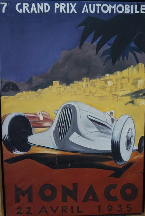 Monaco 1935, oil on canvas, by Todd Stoner