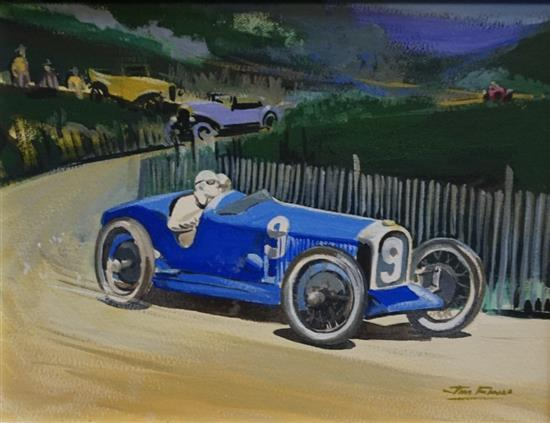 A Pre-war Car GP Salmson painting by Jim Flynn
