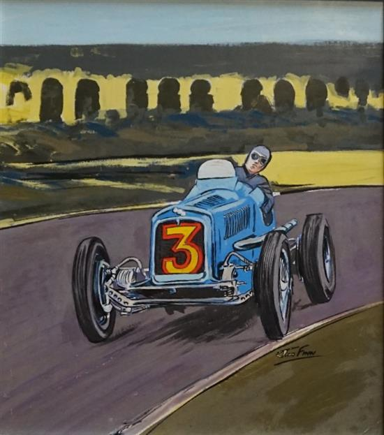 A Pre-war Car GP ERA Bira painting by Jim Flynn