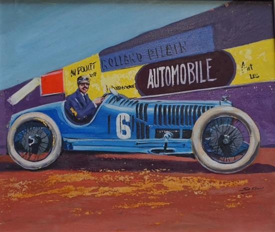 A Pre-war Car GP Rolland Pilain painting by Jim Flynn