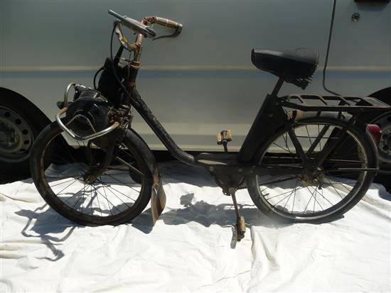 A French Solex powered bicycle, circa 1950