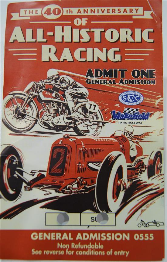The original artwork of The 40th Anniversary of All - Historic Racing at Wakefield Park by Marshall Dunn