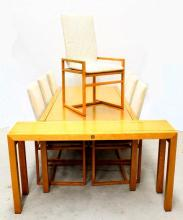A Pierre Balmain Dining Table, Eight Chairs & Console Table [10],