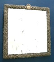 A Very Large Nineteenth Century Spanish Repousse Silver Framed Easel Mirror