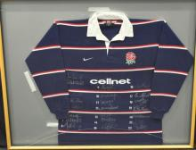An English signed 1999 Centenary Test Jersey,