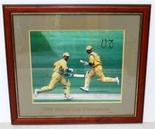 A Framed Signed Limited Edition 207/500 Photograph ''Brothers in Arms'' of 1999 World Cup Champions Mark & Steve Waugh,