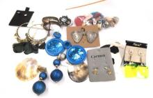 A Collection of Costume Jewellery Earrings,