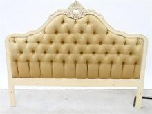 A Cream Upholstered Bed Head,