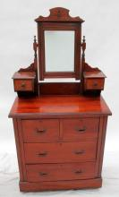 An Edwardian Six-Drawer Dressing Table