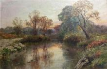 Ernest Charles Walbourn (1872-1927) British The Thames at Wargrave Oil on canvas