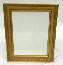 A Rectangular Classical Style Gilt Framed Mirror