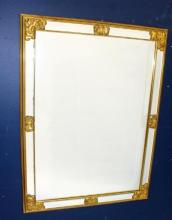 A Faux Gilt Rectangular Mirror