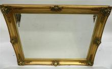 An Impressive Gilt Rectangular Bevelled Mirror,