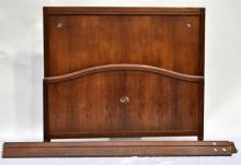 A Rosewood & Inlay Double Bed Base