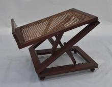 An Antique Mahogany Fold Out Gout Stool,