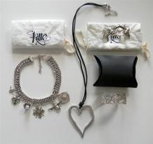 A Collection of Silver Plate Costume Jewellery incl. Necklaces & Bangles