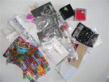 A bag of mostly packaged & boxed costume jewellery