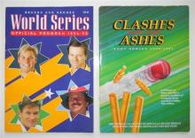 A Benson & Hedges World Series Official Program 1994 - 95 plus Clashes for the Ashes minted medals