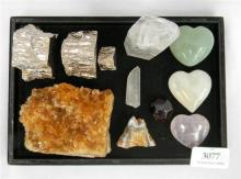 A collection of rock & crystal samples