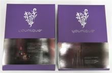 Two beauty packs for eyes & lips marked Younique