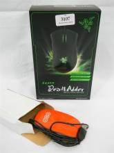 A Razer Death Adder gaming mouse plus another