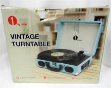 A 1byOne Vintage Turntable in re-sealed box
