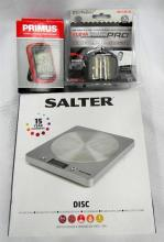 The kitchen set incl. Salter digital scales, pro knife sharpener & wireless fridge thermometer