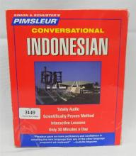 A Pimsleur learn Indonesian kit plus Sony CD walkman
