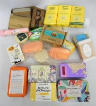 A bag of assorted soaps