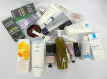 A bag of assorted beauty products incl. moisturisers, cleansers, toners etc.