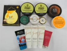 A bag of assorated masques & scrubs