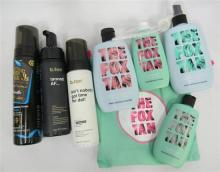 A bag of assorted self tanning products incl. Bondi Sands etc.