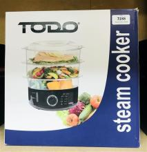 A Todo Steam Cooker in re-sealed box