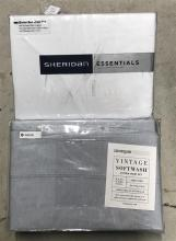 Two queen size bed sheet sets marked Sheridan & Canninvale
