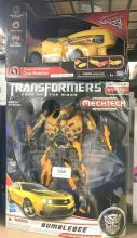 A transformer bumble bee autbot toy plus remote control car marked Disney