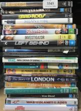 Apoprox 22 assorted DVD movies & special interest discs