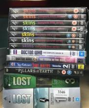 A collection of DVD television series sets incl. Lost, Skins etc.