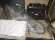 Assorted new & used car parts & filters