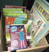 A box of children related books & novels