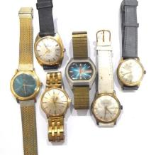 A Collection of Gentleman''s Wrist Watches including Waltham, Certina, Zetus,