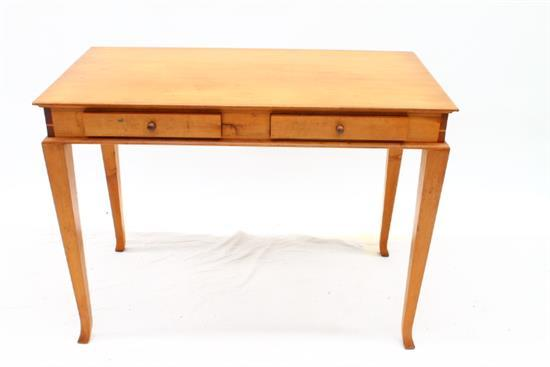 A modern two drawer sofa table in pine - Pine sofa table with drawers ...