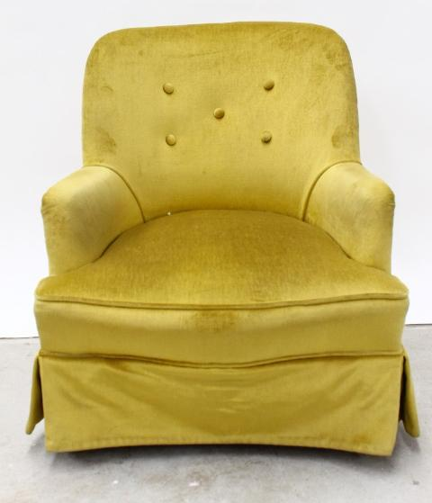 A Small Upholstered Bedroom Chair