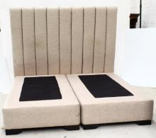 A Padded Double Bedhead & Bases